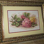 Картины и панно ручной работы. Ярмарка Мастеров - ручная работа Срезанные розы. Handmade.