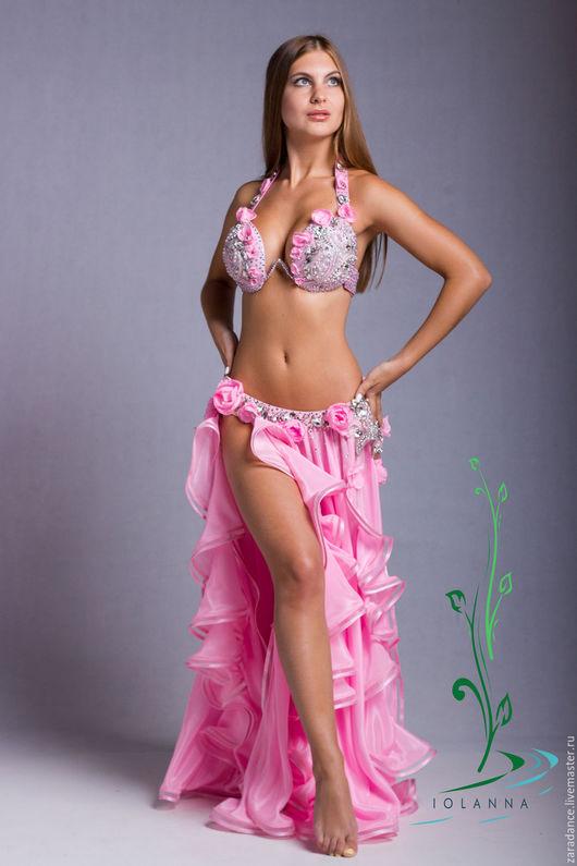 """Танцевальные костюмы ручной работы. Ярмарка Мастеров - ручная работа. Купить Восточный костюм """"Pink"""". Handmade. Розовый, стразы"""