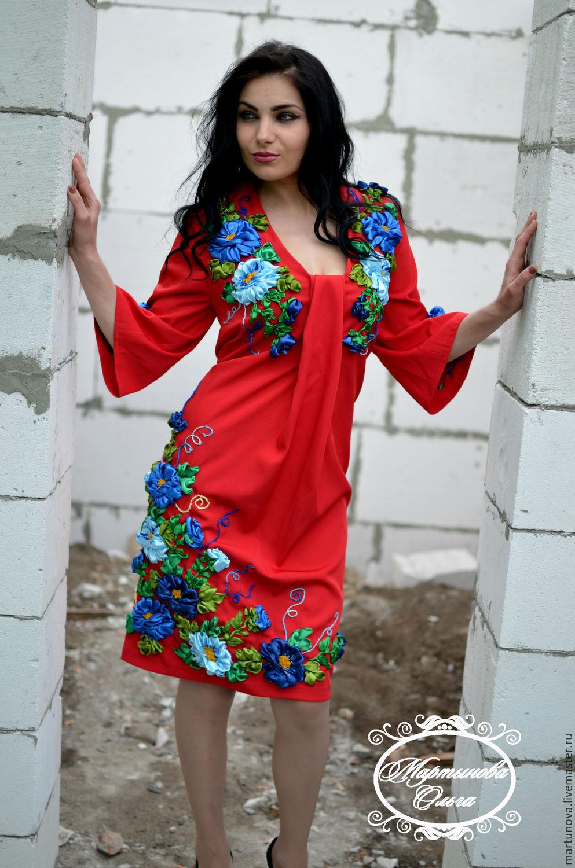 Платья ручной работы. Ярмарка Мастеров - ручная работа. Купить Платье  вышитое лентами Леди в ... 13c1c98d97afc
