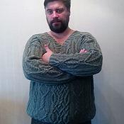 """Одежда ручной работы. Ярмарка Мастеров - ручная работа Мужской свитер с аранами """"Викинг"""". Handmade."""