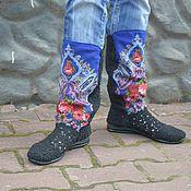 """Обувь ручной работы. Ярмарка Мастеров - ручная работа сапожки вязаные """"Светлана"""". Handmade."""