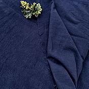Ткани ручной работы. Ярмарка Мастеров - ручная работа Ткань КРАПИВА морщинка Темно-синий. Handmade.