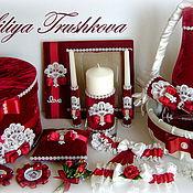 """Подушечки ручной работы. Ярмарка Мастеров - ручная работа Свадебный набор  """"Королевский бархат"""" бордо. Handmade."""