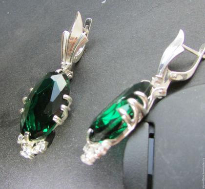 скидка, серебряные украшения, серьги с камнями, новый год, подарок девушке