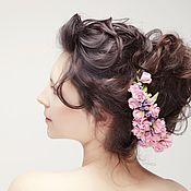 Свадебный салон ручной работы. Ярмарка Мастеров - ручная работа Сиреневая ветвь роз. Handmade.