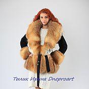 "Одежда handmade. Livemaster - original item Jacket avtoledi ""Pretty woman""with fur of Fox. Handmade."
