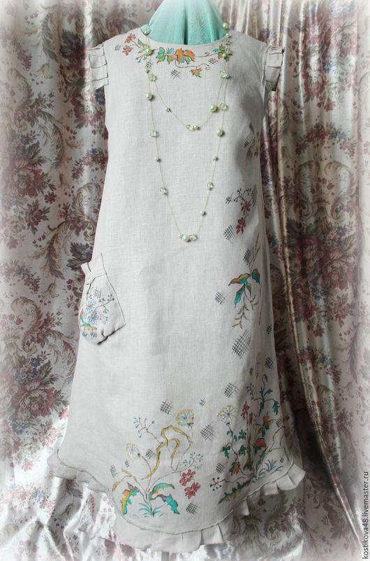 Платья ручной работы. Ярмарка Мастеров - ручная работа. Купить Платье-в ожидании лета. Handmade. Оливковый