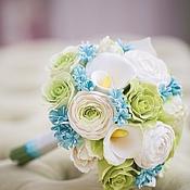 Свадебный салон ручной работы. Ярмарка Мастеров - ручная работа Букет невесты с мятными гиацинтами. Handmade.