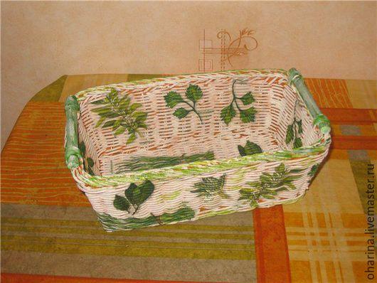 """Полки для специй ручной работы. Ярмарка Мастеров - ручная работа. Купить Корзина для специй """"Пряные травы"""". Handmade. Зеленый, белый"""