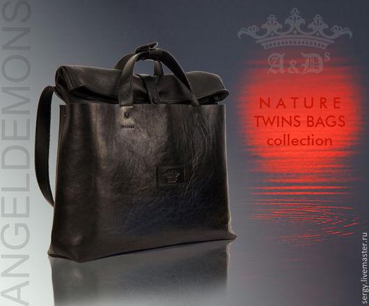 Мужские сумки ручной работы. Ярмарка Мастеров - ручная работа. Купить Сумка Twins Bags Black Office. Handmade. Черный
