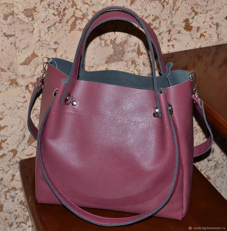 Handbags Handmade Livemaster Leather Bag Women S Handbag Genuine Model 132
