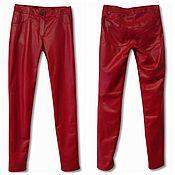 Одежда handmade. Livemaster - original item Leather Red Pants. Handmade.