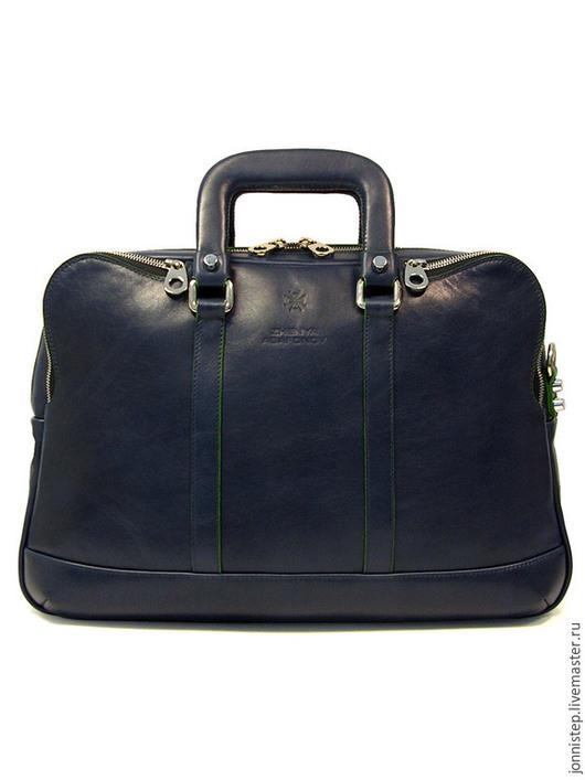 """Мужские сумки ручной работы. Ярмарка Мастеров - ручная работа. Купить Повседневная сумка унисекс """"Vertigo"""". Handmade. Тёмно-синий"""