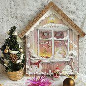 Для дома и интерьера ручной работы. Ярмарка Мастеров - ручная работа Панно-вешалка-ключница Рождественская сказка. Handmade.