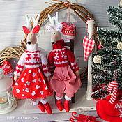 Куклы и игрушки handmade. Livemaster - original item Tilda -the deer! New year!. Handmade.