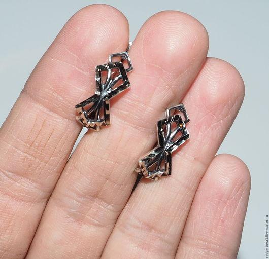 Для украшений ручной работы. Ярмарка Мастеров - ручная работа. Купить Швензы с алмазной гранью № 669 серебрение 925 пробы. Handmade.