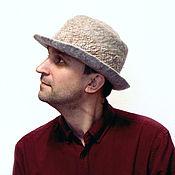 Аксессуары handmade. Livemaster - original item Grey hat. Handmade.