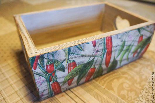 Кухня ручной работы. Ярмарка Мастеров - ручная работа. Купить Короб Перчики. Handmade. Короб, чили, радостный, для души, красный