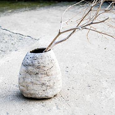 """Для дома и интерьера ручной работы. Ярмарка Мастеров - ручная работа Ваза """"белый коралл"""" раку керамика. Handmade."""