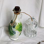 Посуда handmade. Livemaster - original item Bottle for oil, vinegar sauce glass. Handmade.