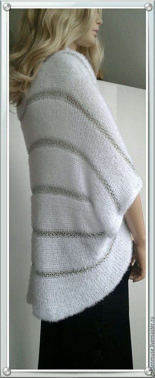 Кофты и свитера ручной работы. Ярмарка Мастеров - ручная работа. Купить Кофта белая с серебром пушистая. Handmade. Белый