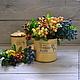 Ягоды на ветке 22см,  5 цветов