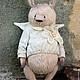 Мишки Тедди ручной работы. Ярмарка Мастеров - ручная работа. Купить Ангелы.... Handmade. Розовый, тедди, опилки древесные