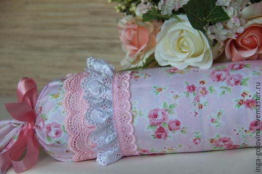 Текстиль, ковры ручной работы. Ярмарка Мастеров - ручная работа. Купить Подушка-валик для сна Сладких снов. Handmade. Комбинированный