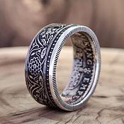 Украшения handmade. Livemaster - original item 1 Rupee Silver Coin Ring, India-British 1912-1922. Handmade.