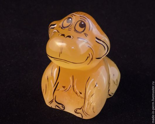 Статуэтки ручной работы. Ярмарка Мастеров - ручная работа. Купить Обезьянка - фигурка из камня Селенит. Handmade. Фигурка, резьба по камню