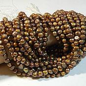 Материалы для творчества handmade. Livemaster - original item Pearl Coffee galtovka 8*4 mm. thread. Handmade.