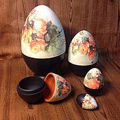 Подарки к праздникам ручной работы. Ярмарка Мастеров - ручная работа Яйца-матрешка. Handmade.