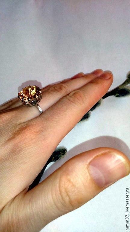 """Кольца ручной работы. Ярмарка Мастеров - ручная работа. Купить Кольцо с крупным камнем """"Романтика""""серебро 925. Handmade. Кольцо с камнем"""