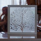 """Картины и панно ручной работы. Ярмарка Мастеров - ручная работа декоративное панно """"Дерево счастья"""". Handmade."""