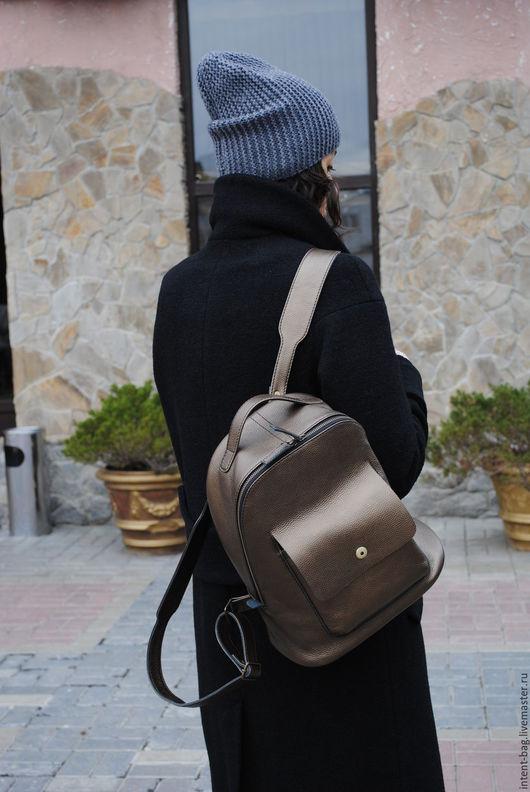 Рюкзаки ручной работы. Ярмарка Мастеров - ручная работа. Купить С039. Handmade. Золотой, рюкзак ручной работы, рюкзак городской