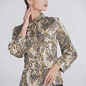 """Блузки ручной работы. Ярмарка Мастеров - ручная работа Шелковая блузка """"Золото"""". Handmade."""