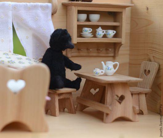 Кукольный дом ручной работы. Ярмарка Мастеров - ручная работа. Купить Домик для Чернички.. Handmade. Разноцветный, кукольный домик, вискоза