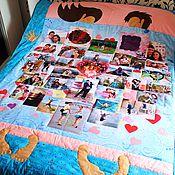 """Свадебный салон ручной работы. Ярмарка Мастеров - ручная работа Лоскутное одеяло  """"Любовь с пожеланиями"""" № 428. Handmade."""