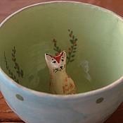 """Посуда ручной работы. Ярмарка Мастеров - ручная работа Кружка """"Котя"""". Handmade."""