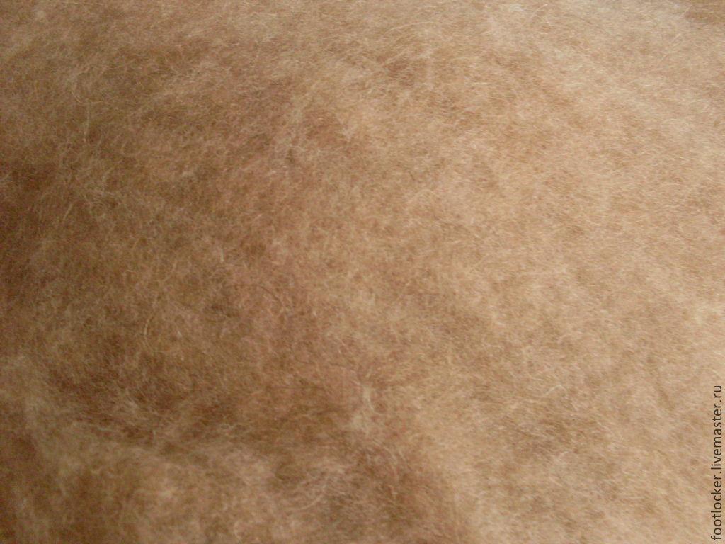 Верблюжья шерсть для валяния, светло-коричн., 50 гр, Шерсть, Ловеч,  Фото №1