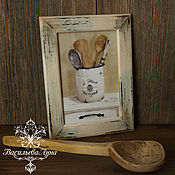 """Картины и панно ручной работы. Ярмарка Мастеров - ручная работа Панно  """" Ретро кухня"""". Handmade."""