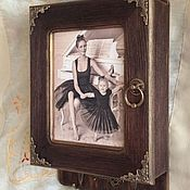 """Ключницы ручной работы. Ярмарка Мастеров - ручная работа """"Мы с мамой балерины"""" ключница с фото. Handmade."""
