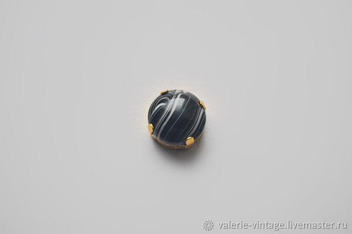Vintage Rhinestones Black paint 14 mm, Cabochons, Moscow,  Фото №1