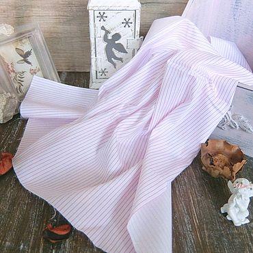 Материалы для творчества ручной работы. Ярмарка Мастеров - ручная работа Ткань сатин розовая полоска. Handmade.