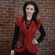 """Одежда ручной работы. Ярмарка Мастеров - ручная работа Жилет""""Бардовый соблазн"""". Handmade."""