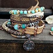 Украшения handmade. Livemaster - original item Suede BOHO bracelet with JI