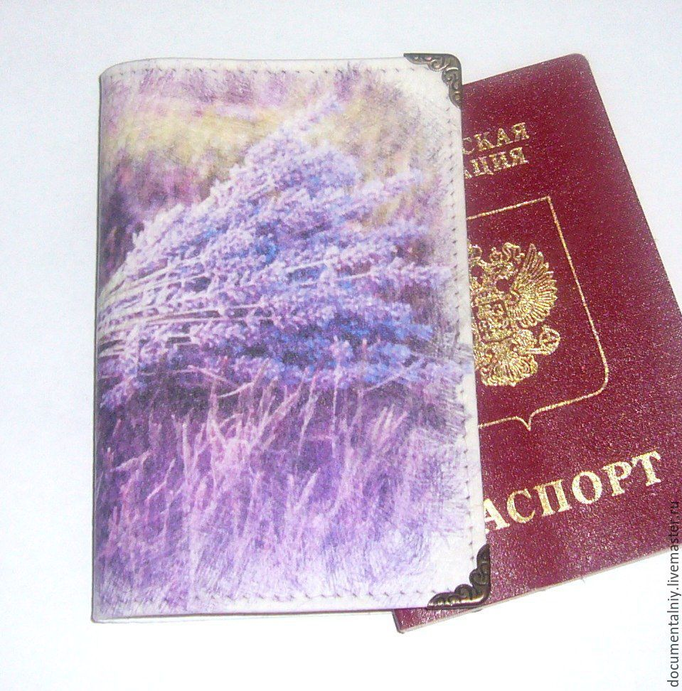 Cover (leather) 'Lavander', Cover, Obninsk,  Фото №1