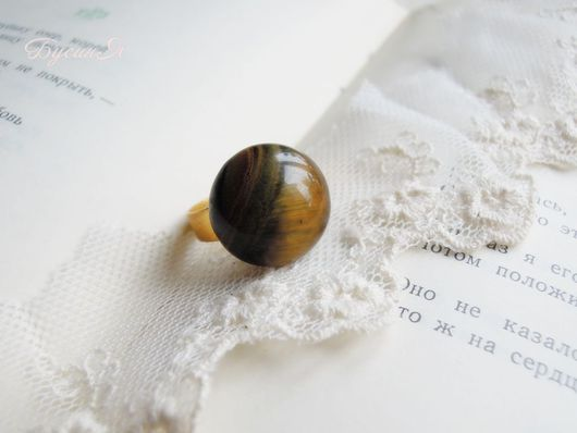 """Кольца ручной работы. Ярмарка Мастеров - ручная работа. Купить Кольцо """"Шотландия"""", тигровый глаз. Handmade. Коричневый, кольцо с камнем"""