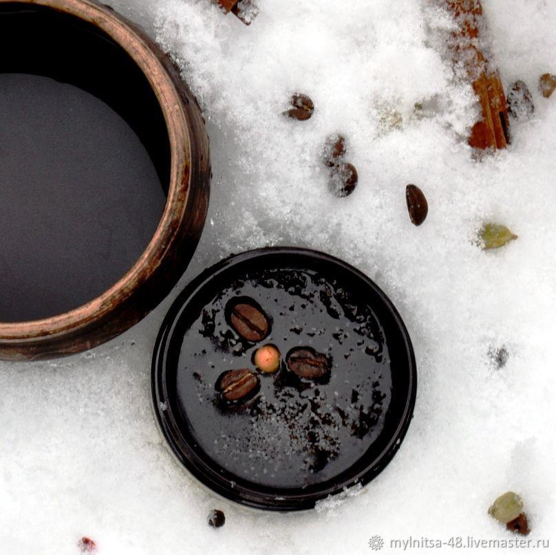 Scrub handmade. Livemaster - handmade. Buy Kalua, the most aromatic hydrophilic salt body scrub.Brown, cellulite