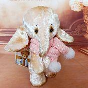 Куклы и игрушки ручной работы. Ярмарка Мастеров - ручная работа МИШЕЛЬ  Слоник-тедди. Handmade.